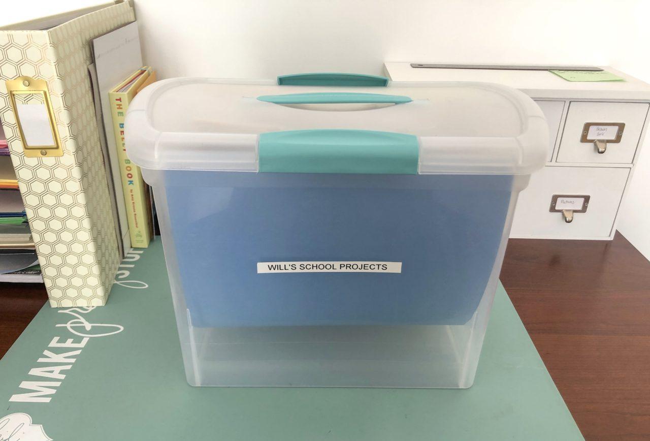 school project organization box