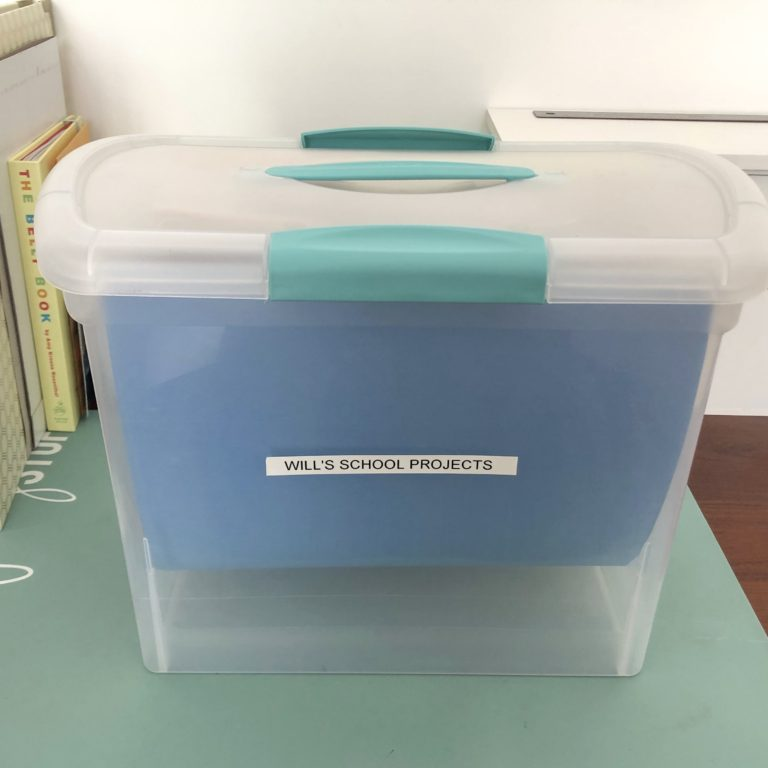 school project organization box