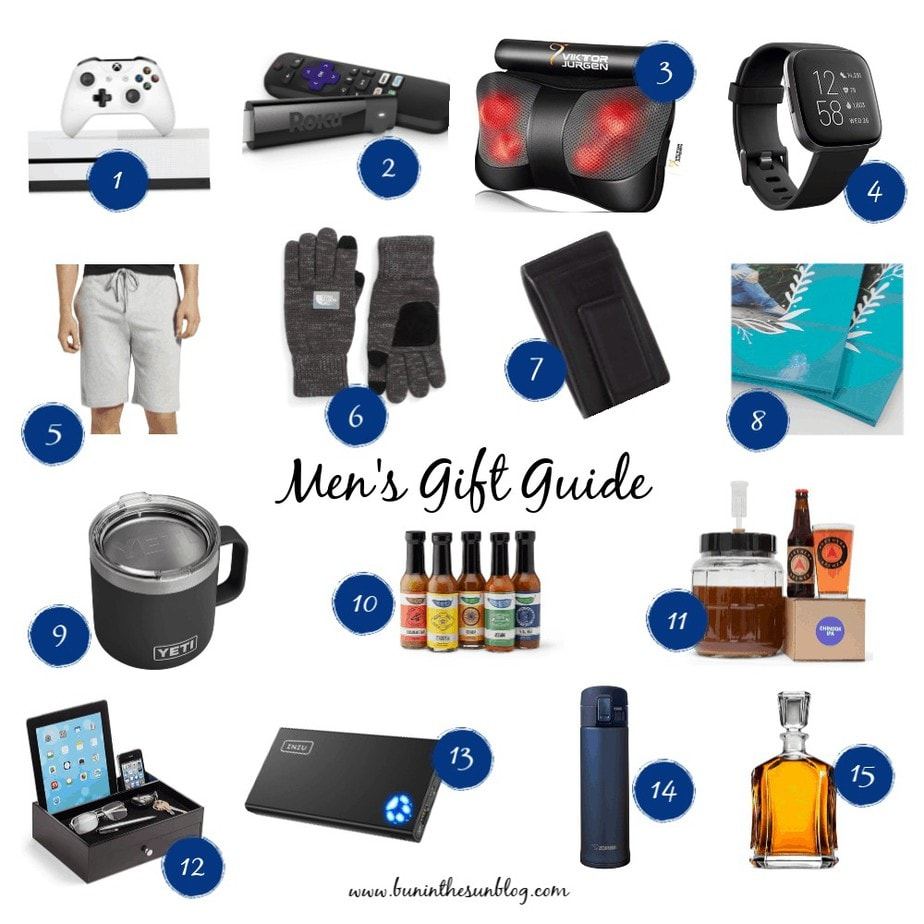 men's gift guide collage