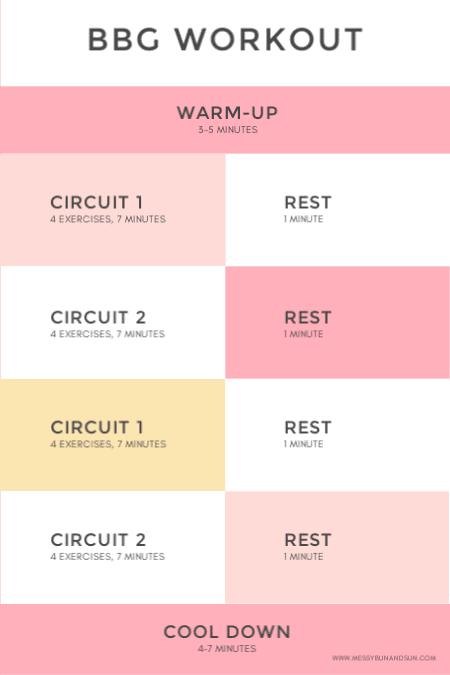 BBG-workout-schedule